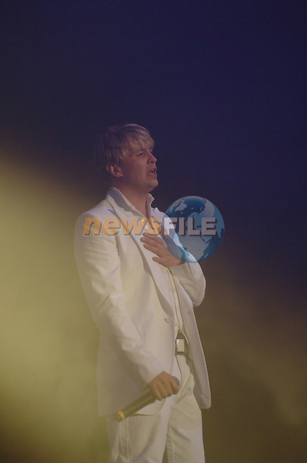 Westlife Irish boy band play at the first of there eight nights in the Point Depot in Dublin. Band Member Kian Egan on stage in the Point Depot. 11/4/06.Photo NEWSFILE/Colin BEll..(Photo credit should read Coln Bell/NEWSFILE).