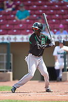 Dayton Dragons right fielder Zack Shields (7) at bat during a game against the Cedar Rapids Kernels on July 24, 2016 at Perfect Game Field in Cedar Rapids, Iowa.  Cedar Rapids defeated Dayton 10-6.  (Mike Janes/Four Seam Images)