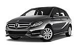 Stock pictures of low aggressive front three quarter view of 2016 Mercedes Benz B-Class Inspiration 5 Door Mini MPV Low Aggressive