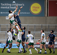 21st March 2021; AJ Bell Stadium, Salford, Lancashire, England; English Premiership Rugby, Sale Sharks versus London Irish; Lood de Jager of Sale Sharks in the line out