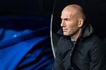 Real Madrid  coach Zinedine Zidane during La Liga match between Real Madrid and Getafe CF  at Santiago Bernabeu Stadium in Madrid , Spain. March 03, 2018. (ALTERPHOTOS/Borja B.Hojas)