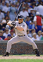CIRCA 1997: Jeff Bagwell #5 of the Houston Astros at bat during a game from his 1997 season against the Chicago Cubs. Jeff Bagwell played for 15 seasons, all with the Houston Astros, was a 4-time All-Star and was inducted to the Baseball Hall of Fame in 2017.(Photo by: 1997 SportPics)  *** Local Caption *** Jeff Bagwell