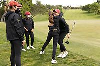 STANFORD, CA - APRIL 25: Malia Nam, Alyaa Abdulghany, Brianna Navarrosa, Amelia Garvey at Stanford Golf Course on April 25, 2021 in Stanford, California.