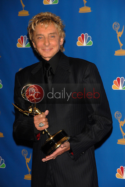 Barry Manilow<br />in the Press Room at the 58th Annual Primetime Emmy Awards. The Shrine Auditorium, Los Angeles, CA. 08-27-06<br />Scott Kirkland/DailyCeleb.com 818-249-4998