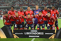 MEDELLIN - COLOMBIA: 15 - 03 - 2017: Los Jugadores de Deportivo Independiente Medellin, posan para una foto, durante partido de la fase de grupos, grupo 3, fecha 1 entre Deportivo Independiente Medellin de Colombia y River Plate de Argentina por la Copa Conmebol Libertadores Bridgestone 2017 en el Estadio Atanasio Girardot, de la ciudad de Medellin. / The players Deportivo Independiente Medellin, pose for a photo during a match for the group stage, group 3 of the date 1, between Deportivo Independiente Medellin of Colombia and River Plate of Argentina for the Conmebol Libertadores Bridgestone Cup 2017, at the Atanasio Girardot, Stadium, in Medellin city. Photos: VizzorImage / Luis Ramirez / Staff.