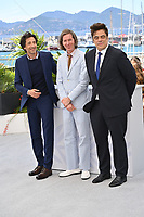 CANNES, FRANCE. July 13, 2021: Adrien Brody, Wes Anderson & Benicio Del Toro at the photocall for Wes Anderson's The French Despatch at the 74th Festival de Cannes.<br /> Picture: Paul Smith / Featureflash