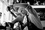 Teemu-Pekka Leppanen<br /> Schuhe von George Cleverley <br /> <br /> Engl.: Europe, England, Great Britain, London, shoes handmade by George Cleverly, handicraft, tradition, shoemaker, employee Teemu-Pekka Leppanen, June 2013