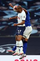 Alex Iwobi of Everton and Lucas of Tottenham Hotspur during Tottenham Hotspur vs Everton, Premier League Football at Tottenham Hotspur Stadium on 6th July 2020