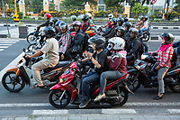 Yogyakarta, Java, Indonesia.  Jl. Laksda Adisucipto Street.