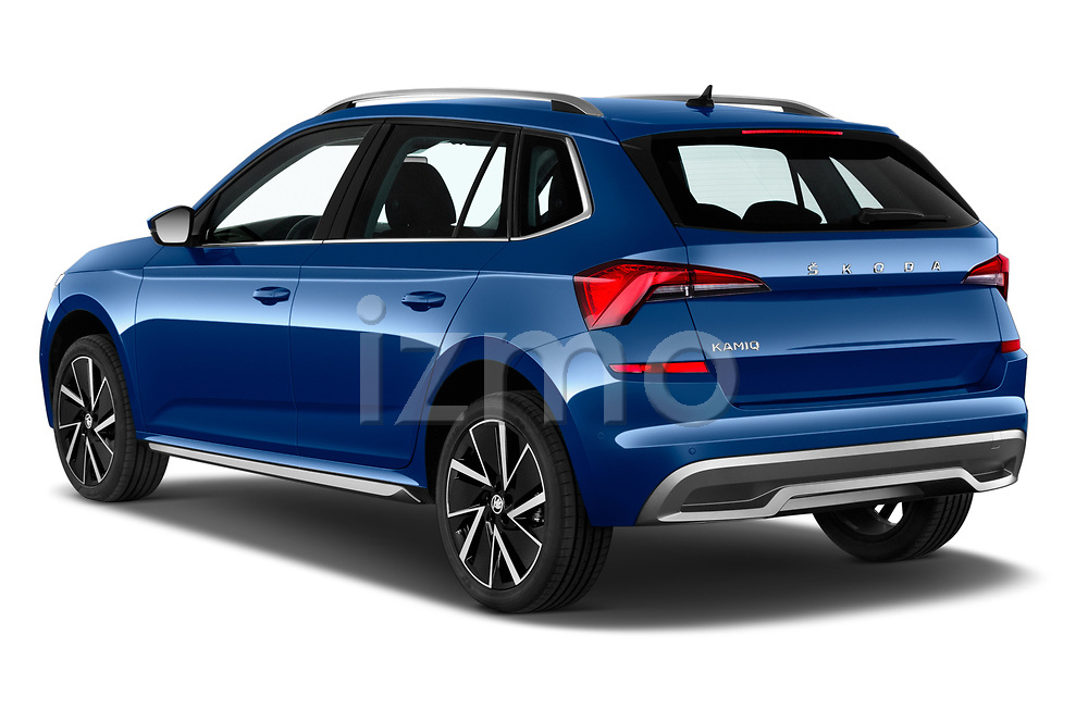 Car pictures of rear three quarter view of a 2020 Skoda Kamiq Style 5 Door SUV angular rear