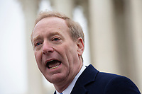 Microsoft President Brad Smith speaks to the press after the Supreme Court heard arguments on the Deferred Action for Childhood Arrivals program in Washington D.C., U.S. on Tuesday, November 12, 2019.<br /> <br /> Credit: Stefani Reynolds / CNP /MediaPunch
