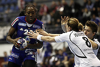 SERBIA, BELGRADE: France's Mariama Signate in action during handball Women's World Championship match between France and Montenegro in Belgrade, Serbia on Wednesday, December 11, 2013. (credit image & photo: Pedja Milosavljevic / STARSPORT / +318 64 1260 959 / thepedja@gmail.com)