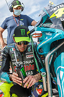 3rd October 2021; Austin, Texas, USA; Valentino Rossi (46) - (ITA) riding a Yamaha for the Petronas Yamaha SRT Team on the grid for the MotoGP Red Bull Grand Prix of the Americas