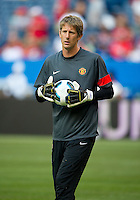 July 16, 2010 Edwin van der Sar No. 1 of Manchester United during an international friendly between Manchester United and Celtic FC at the Rogers Centre in Toronto.