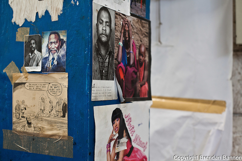 The workers' Bulletin board at Colourprint in Nairobi.