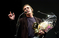September 7,  2003, Montreal, Quebec, Canada<br /> <br />  Montreal director Louis<br />  Belanger receive the Special Grand Prize of the Jury and also the OECUMNICAL AWARD for his movie, based on his father's life and values.<br /> <br /> <br /> <br /> The Festival runs from August 27th to september 7th, 2003<br /> <br /> <br /> Mandatory Credit: Photo by Pierre Roussel- Images Distribution. (©) Copyright 2003 by Pierre Roussel <br /> <br /> All Photos are on www.photoreflect.com, filed by date and events. For private and media sales