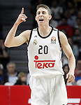 Real Madrid's Jaycee Carroll during Euroleague match.March 12,2015. (ALTERPHOTOS/Acero)