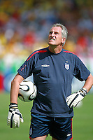 25 June 2006: Portrait of England goalkeeping coach Ray Clemence before the FIFA World Cup Last 16 game between England and Ecuador played in the Gottlieb-Daimler-Stadion, Stuttgart. England won the game 1-0.