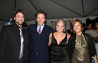 Artie and Terri Colombino with Gary Null and wife at the Gala Awards Ceremony of the 2008 Hoboken International Film Festival which concluded  with Billy Dee Williams being presented the Lifetime Achievement Award and then nominees and winners were announced on June 5, 2008 at Pier A Park, Hoboken, New Jersey.  (Photo by Sue Coflin/Max Photos)