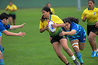 Action from the 2020 Hurricanes Under-15 Girls tournament match between Cullinane College and Mana College at Playford Park in Levin, New Zealand on Tuesday, 1 September 2020. Photo: Dave Lintott / lintottphoto.co.nz
