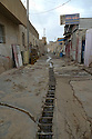 Iraq 2011 <br /> In an old district of Erbil, water-works in a street   <br /> Irak 2011 <br /> Canalisation d'eau dans une rue d'un vieux quartier d'Erbil