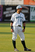 Daytona Tortugas outfielder Sebastian Elizalde (24) before a game against the Clearwater Threshers at Radiology Associates Field at Jackie Robinson Ballpark on May 9, 2015 in Daytona, Florida. Clearwater defeated Daytona 7-0. (Robert Gurganus/Four Seam Images)