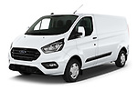 2021 Ford Transit-Custom Trend 4 Door Cargo Van Angular Front automotive stock photos of front three quarter view