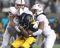 BERKELEY, CA - November 19, 2016: Cal Bears Football team vs. the Stanford Cardinal at Memorial Stadium. Final score, Cal Bears 31, Stanford Cardinal 45.