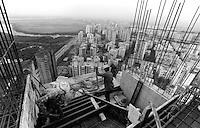 INDIA Maharashtra Mumbai Bombay, construction of appartment blocks in Andheri West / INDIEN Mumbai , Bau von Hochhaeusern in Andheri West - copyright Joerg Boethling, Also as signed black&white fine print available.