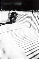 Snow fence and shadow on snow<br />