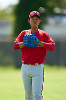 Philadelphia Phillies pitcher Chi-Ling Hsu (78) warms up during an Extended Spring Training game against the Toronto Blue Jays on June 12, 2021 at the Carpenter Complex in Clearwater, Florida. (Mike Janes/Four Seam Images)