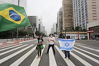 07.04.2020 - Ato contra a quarentena na av Paulista em SP