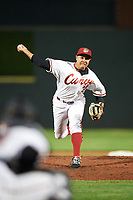 Altoona Curve relief pitcher Miguel Rosario (35) delivers a pitch during a game against the New Hampshire Fisher Cats on May 11, 2017 at Peoples Natural Gas Field in Altoona, Pennsylvania.  Altoona defeated New Hampshire 4-3.  (Mike Janes/Four Seam Images)