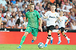 Valencia CF's Kevin Gameiro (r) and Real Sociedad's Martin Odegaard during La Liga match. August 17,2019. (ALTERPHOTOS/Acero)