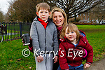 Enjoying a stroll in Tralee town park on Saturday, l to r: Cian, Vivien and Fionan O'Brien