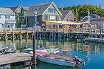 The harbor in Port Clyde village, St George, Maine, USA