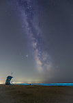 Bioluminescence observed under Milky Way by brothers Hao and Peter Jiang