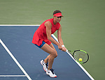 August 16,2017:   Natalie Vikhlyantseva (RUS) loses the first set to Karolina Pliskova (CZE) 6-2, at the Western & Southern Open being played at Lindner Family Tennis Center in Mason, Ohio.  ©Leslie Billman/Tennisclix/CSM