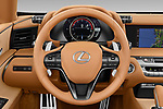 Car pictures of steering wheel view of a 2021 Lexus LC-Convertible 500 2 Door Convertible Steering Wheel