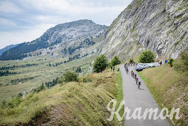 descending the Col de la Colombière<br /> <br /> Stage 5: Megève to Megève (154km)<br /> 72st Critérium du Dauphiné 2020 (2.UWT)<br /> <br /> ©kramon