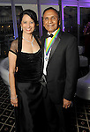 """Dr. Renu Khator and her husband Dr. Suresh Khator at the San Luis Salute """"Space Pirates"""" VIP reception Friday February 24,2017. (Dave Rossman Photo)"""