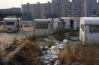 - illicit encampment of clandestine immigrants at Milan west periphery ....- accampamento abusivo di immigrati clandestini alla periferia ovest di Milano