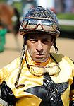 10 April 10: Jockey David Flores on Arkansas Derby Day at Oaklawn Park in Hot Springs, Arkansas.