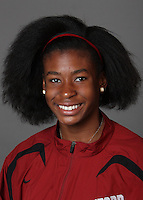 STANFORD, CA - SEPTEMBER 29:  Cassandra Richards of the Stanford Cardinal during track and field picture day on September 29, 2009 in Stanford, California.
