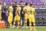 FC Barcelona's coach Quique Setien with his players during La Liga match. July 11,2020. (ALTERPHOTOS/Acero)