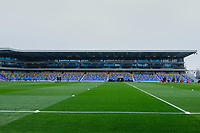 General view of the Main Stand ahead of AFC Wimbledon vs Crawley Town, Emirates FA Cup Football at Plough Lane on 29th November 2020