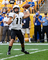 UCF quarterback Dillon Gabriel.The Pitt Panthers defeated the UCF Knights 35-34 in a football game played at Heinz Field, Pittsburgh, Pennsylvania on September 21, 2019.