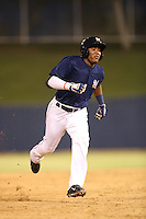 Juan Ortiz (34) of the AZL Brewers runs the bases during a game against the AZL Athletics at Maryvale Baseball Park on June 30, 2015 in Phoenix, Arizona. Brewers defeated Athletics, 4-2. (Larry Goren/Four Seam Images)