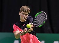Rotterdam, Netherlands, 10 februari, 2018, Ahoy, Tennis, ABNAMROWTT,  Supermatch semifinal: Alec Deckers (NED)<br /> Photo: Henk Koster/tennisimages.com