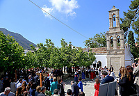 Pictured: The village of Arhanes on the island of Crete, Greece. Friday 11 May 2018 <br /> Re: HRH Prnce Charles and his wife the Duchess of Cornwall visit thevillage of Arhanes near Heraklion, Greece.
